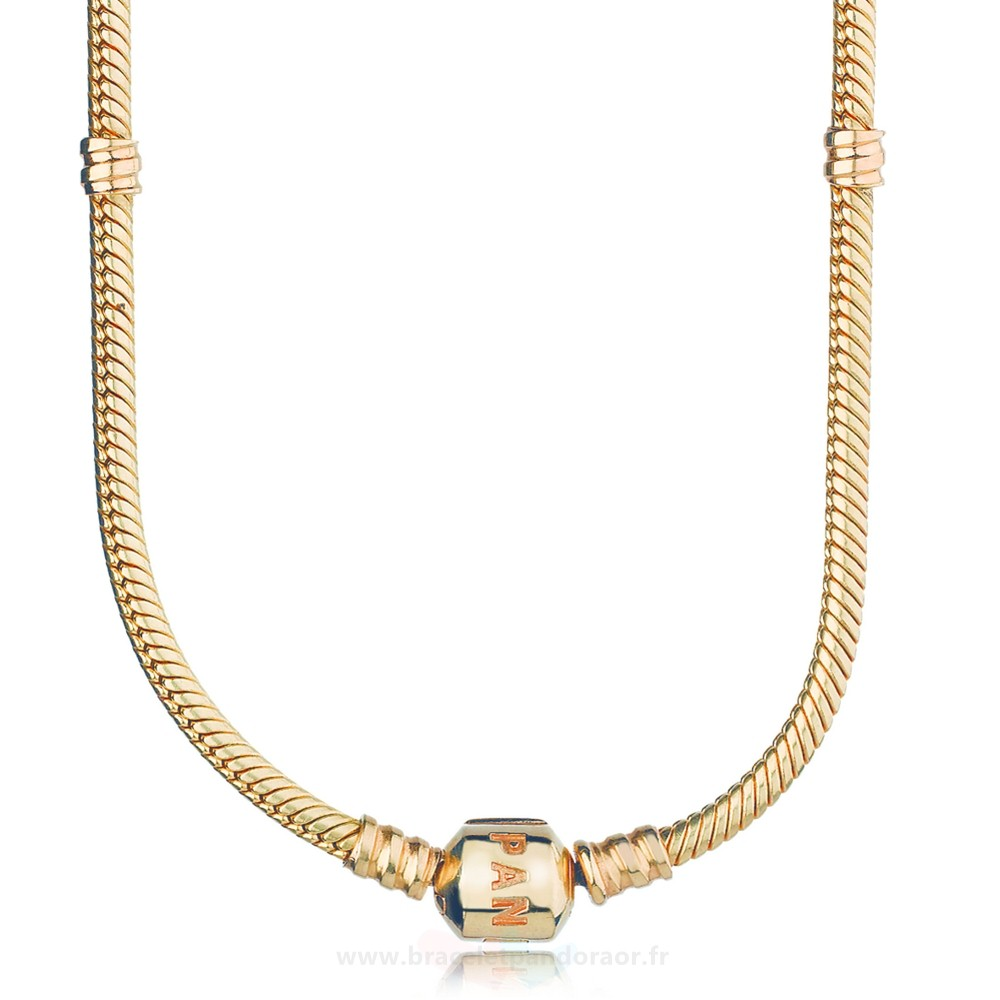 Charme Pandora Pandora Collections 14K Collier A Breloques En Or