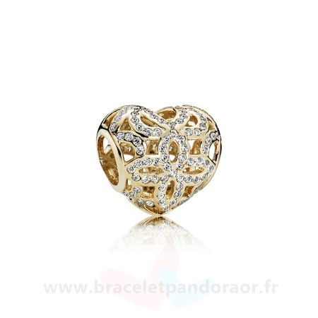 Charme Pandora Pandora Collections Amour Appreciation Charme Clear Cz 14K Or