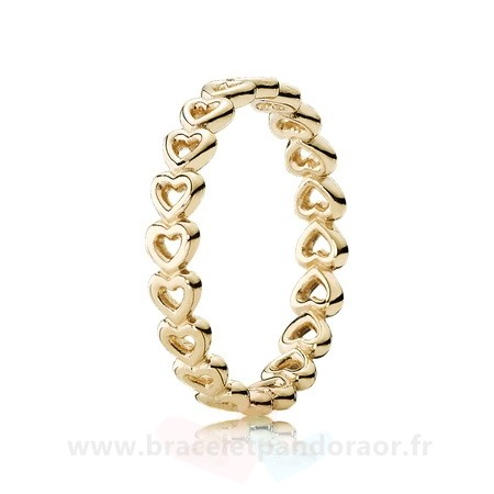 Charme Pandora Pandora Collections Bague Amour Linked 14K Jaune Or