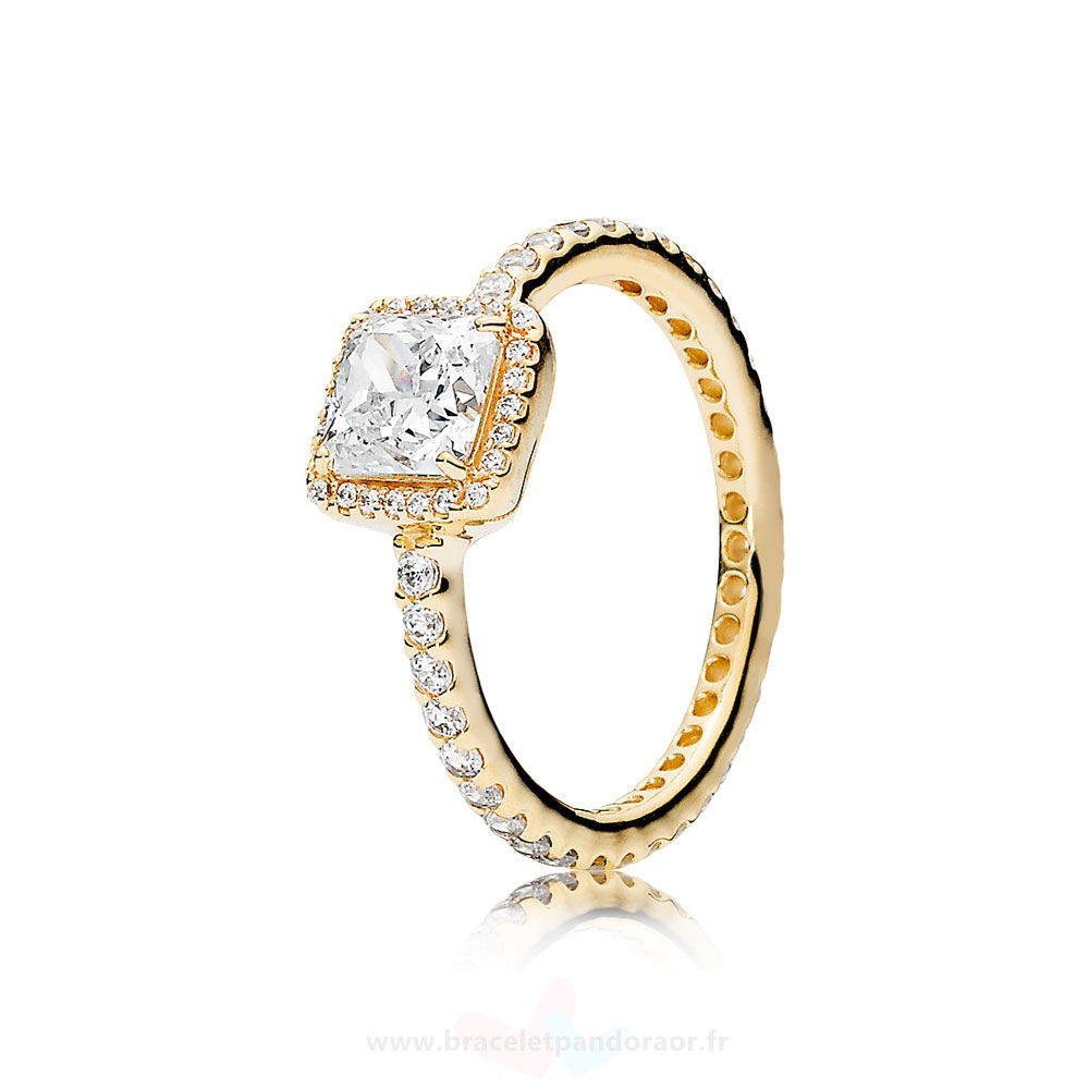 Charme Pandora Pandora Collections Bague Elegance Intemporelle 14K Or Clear Cz