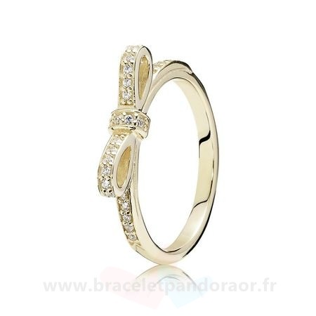 Charme Pandora Pandora Collections Bague Etincelante Clear Cz 14K Or
