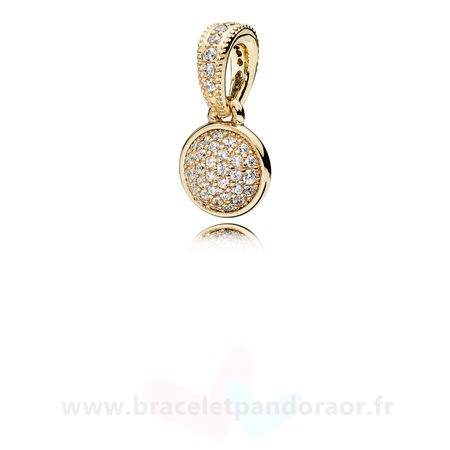 Charme Pandora Pandora Collections Pendentif Dazzling Droplet 14K Or Clear Cz
