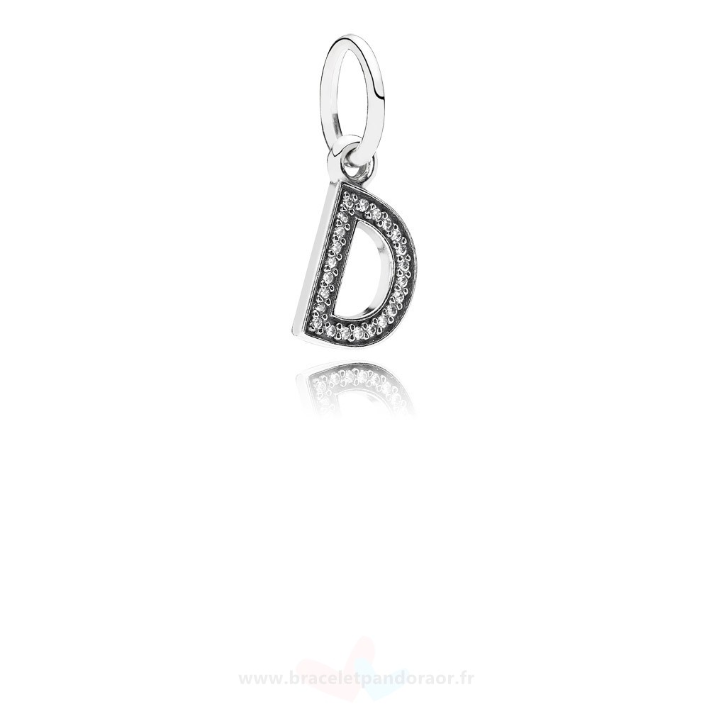 Charme Pandora Pandora Alphabet Symbols Charms Lettre D Dangle Charm Clear Cz