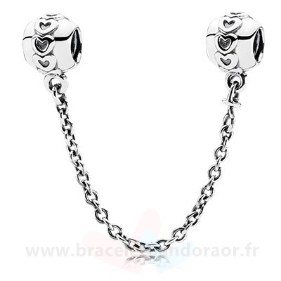 Charme Pandora Pandora Chaines De Securite Amour Connection Safety Chain