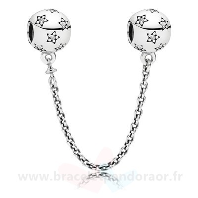 Charme Pandora Pandora Chaines De Securite Pandora 925 Etoile Safety Chain