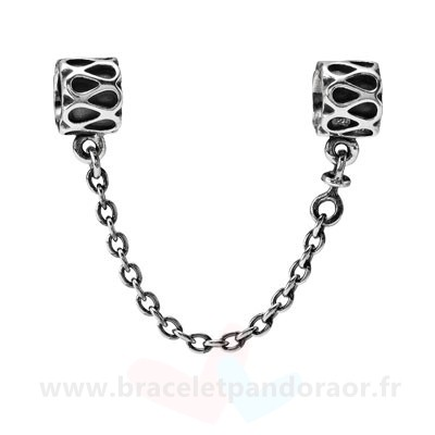 Charme Pandora Pandora Chaines De Securite Pandora 925 Raindrop Safety Chain