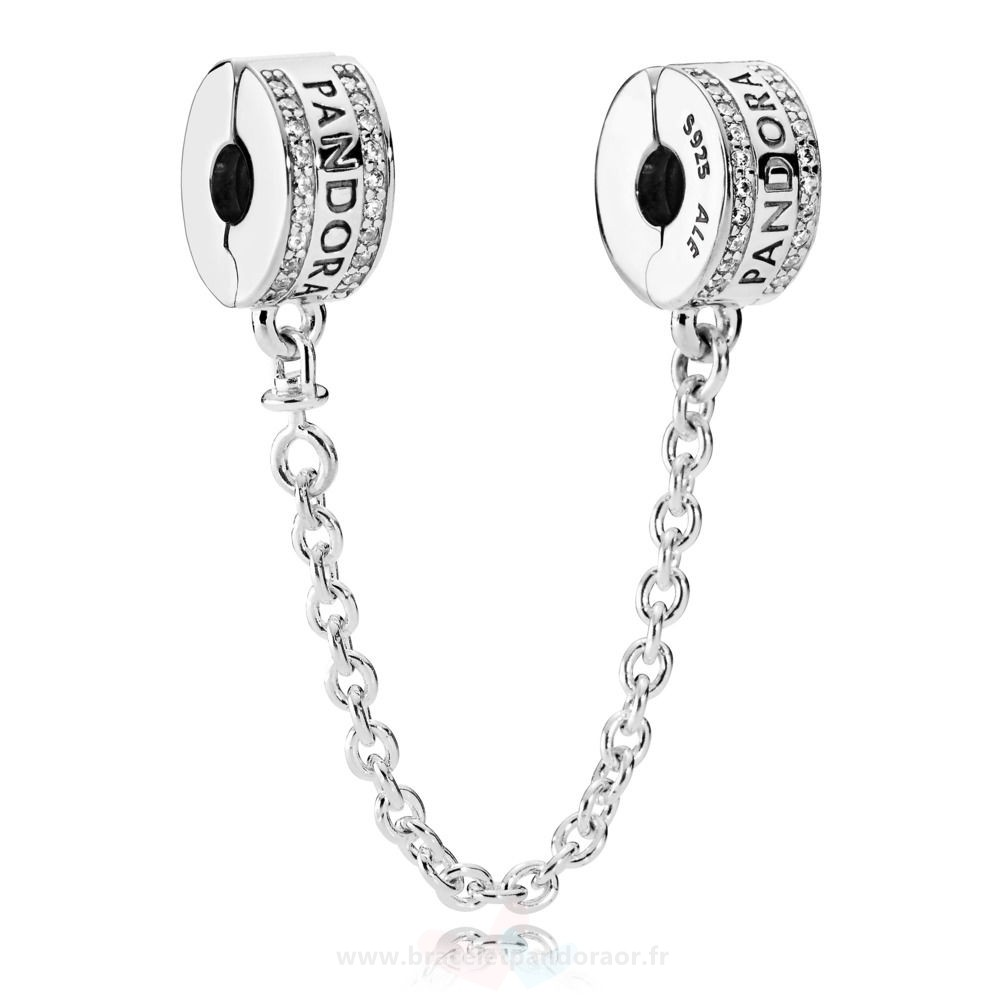 Charme Pandora Pandora Chaines De Securite Pandora 925 Safety Chain Logo