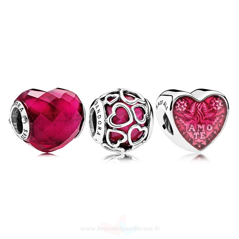Charme Pandora Lucky In Love Fuchsia Charm Pack