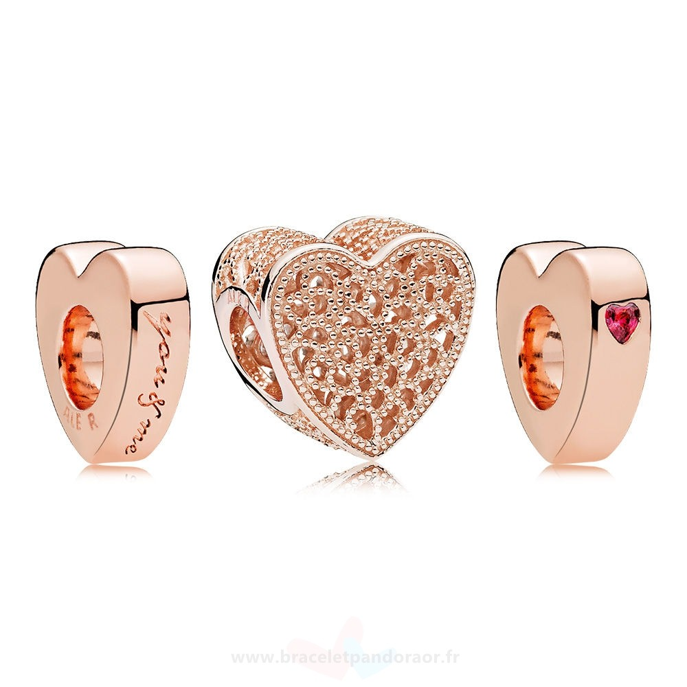 Charme Pandora Pandora Rose Hearts Collide Gift Set