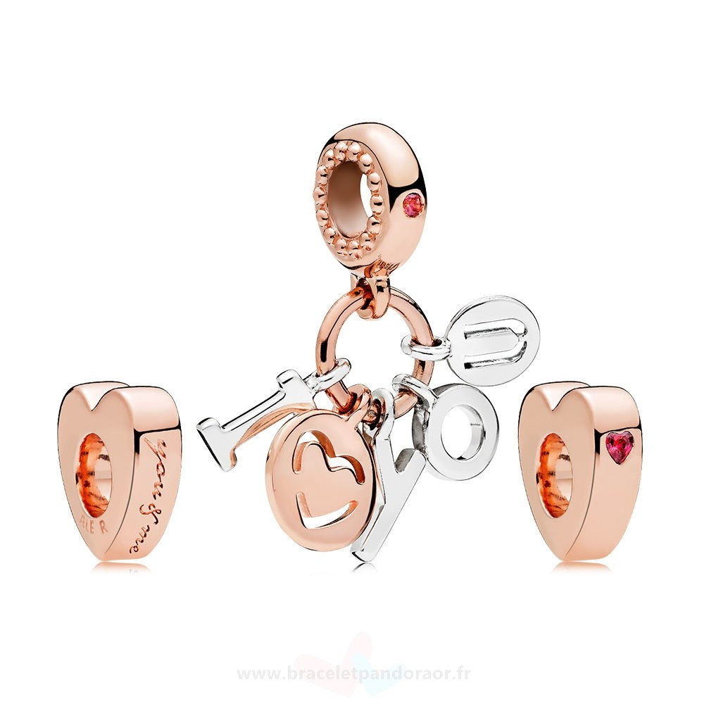 Charme Pandora Pandora Rose I Love You Charm Pack