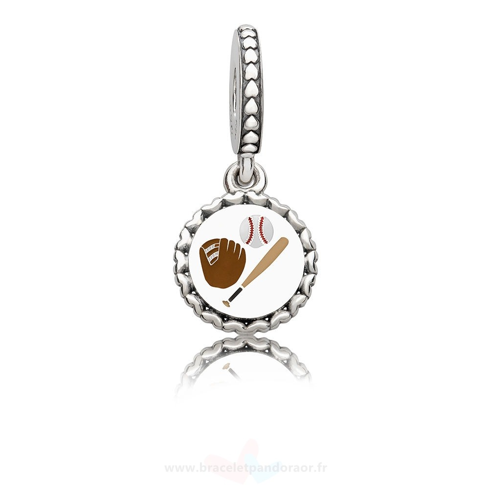 Charme Pandora Baseball Dangle Charm, Mixte Émail
