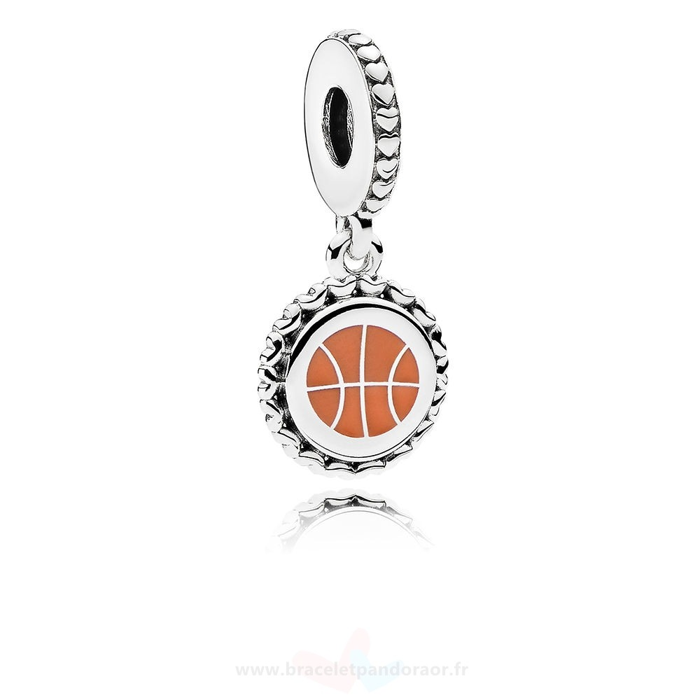 Charme Pandora Basketball Dangle Charm, Mixte Émail