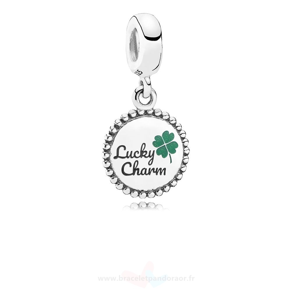 Charme Pandora Chanceux Dangle Charm, Mixte Émail