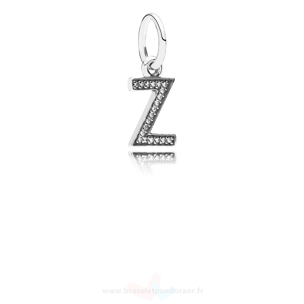 Charme Pandora Pandora Dangle Charms Lettre Z Dangle Charm Clear Cz