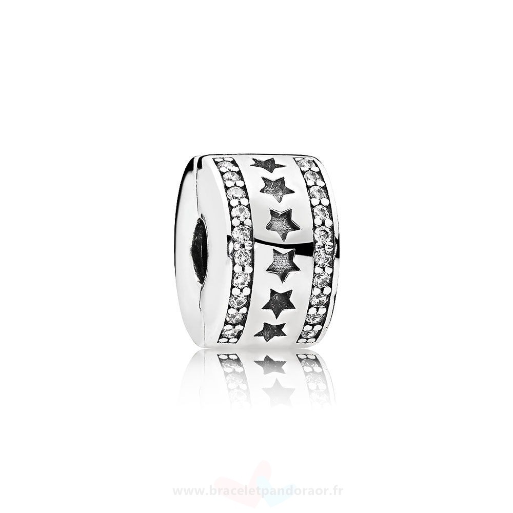 Charme Pandora Pandora Clips Breloques Etoilery Formation Clip Clear Cz