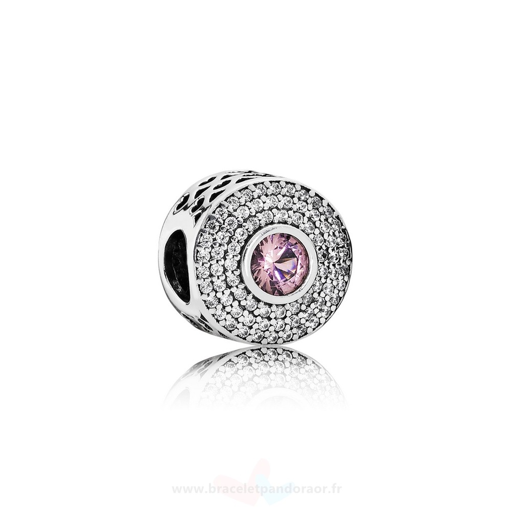 Charme Pandora Pandora Toucher De Couleur Charms Radiant Splendor Charme Blush Rose Crystal Clear Cz