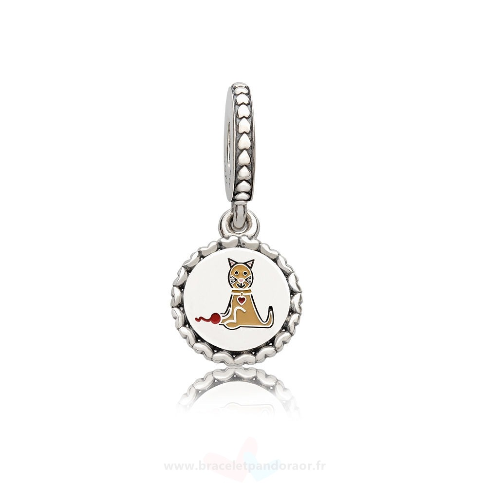 Charme Pandora Pandora Charms Famille Chat Stick Figure Dangle Charm Mixed Email