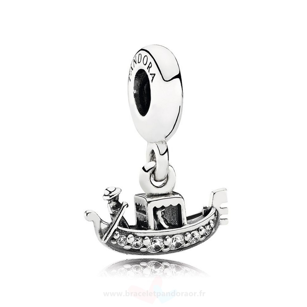 Charme Pandora Pandora Vacances Charms De Voyage Gondole Dangle Charm Clear Cz
