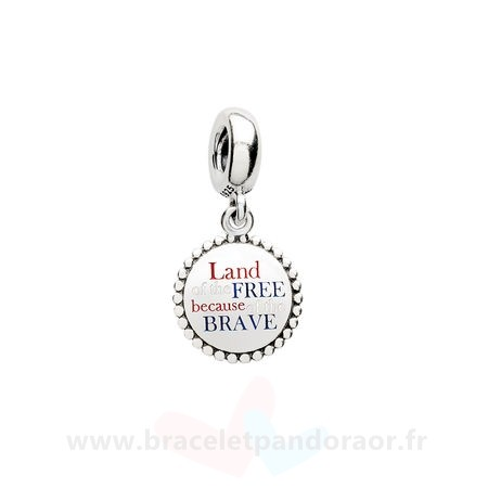 Charme Pandora Pandora Vacances Charms De Voyage Land Of The Gratuit En De La Brave Dangle Charm Red Blanc Blue Email
