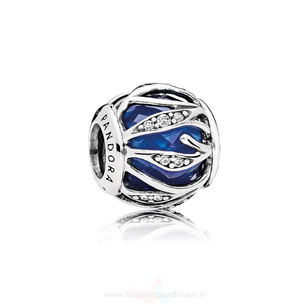 Charme Pandora Nature Breloques Nature'S Radiance Royal Blue Crystal Clear Cz Prix