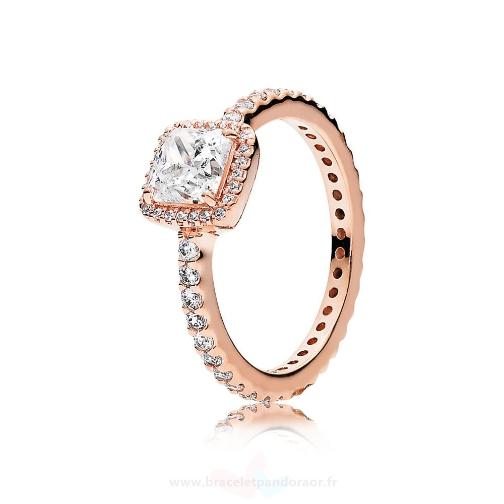 Charme Pandora Pandora Bagues Intemporel Elegance Bagues Pandora Rose Clear Cz