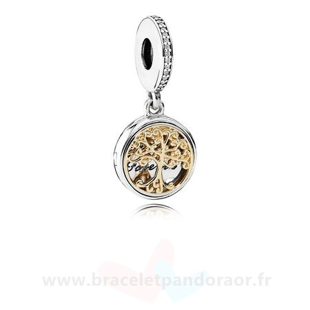 Charme Pandora Dangle Charms Famille Roots Clear Cz