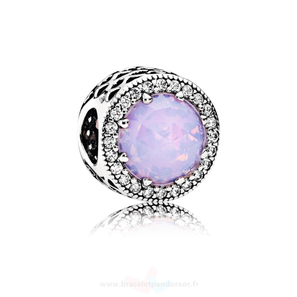 Charme Pandora Opalescent Rose Radiant Coeurs Ouvrirwork Charm