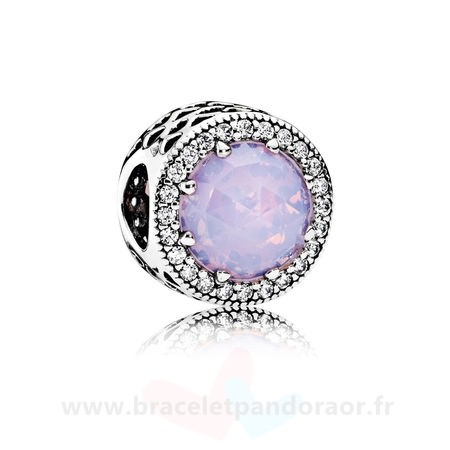 Charme Pandora Pandora Collection Coeurs De Pandora Radiant Coeurs Charme Opalescent Rose Crystal Clear Cz