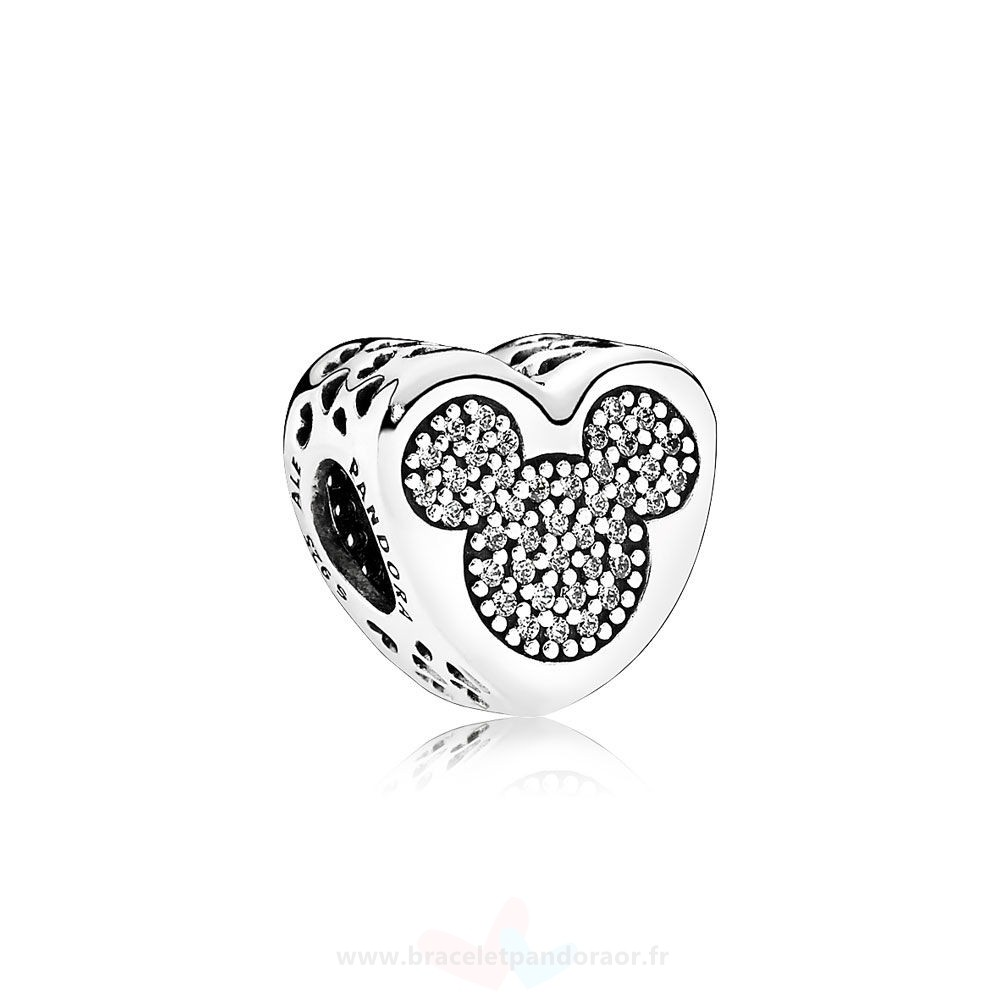 Charme Pandora Pandora Paillettes Paves Charms Disney Mickey Minnie True Amour
