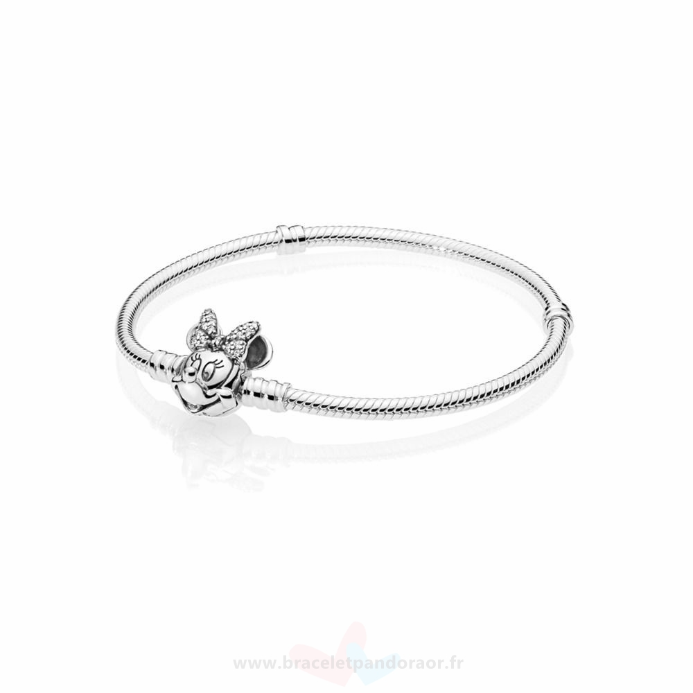 Charme Pandora Disney Portrait Chatoyant De Minnie Moments Bracelets